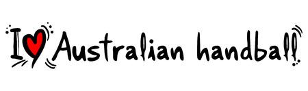 craving: Amor balonmano australiano Vectores