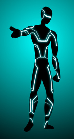 gazing: Future man Illustration