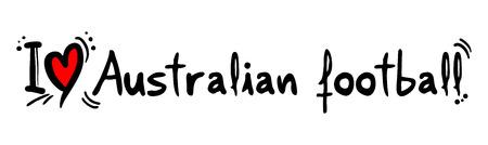 covet: Australian football love Illustration