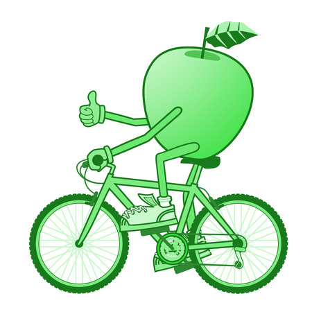 green apple: deporte manzana verde