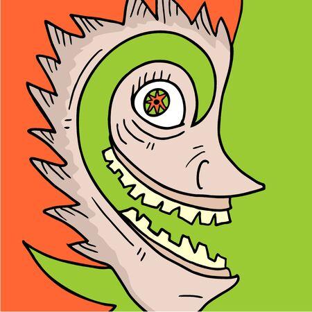 expressive style: Original mask Illustration