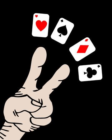 Poker hand Vector