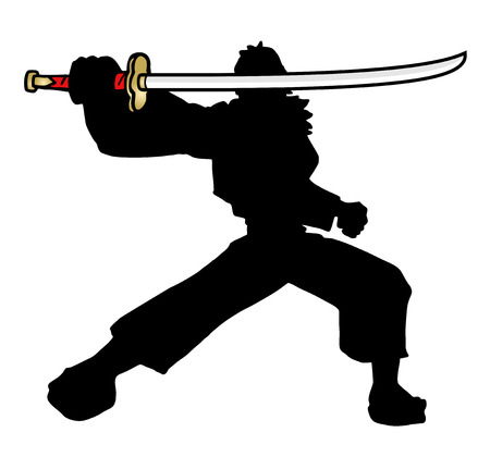 Sword samurai Illustration