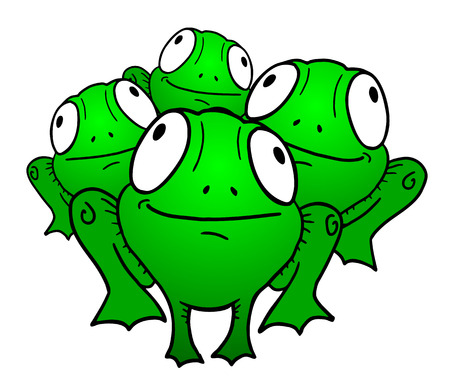 Group of the frog