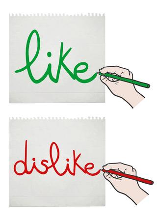 affirmation: Like and dislike card