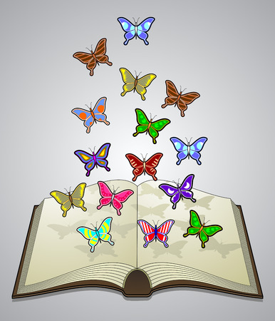 literary: Butterfly literature Illustration