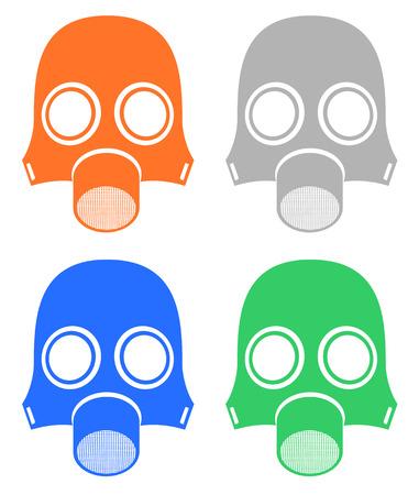 world war two: Four mask radiation