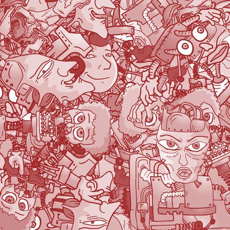 collectibles: Texture robot Illustration