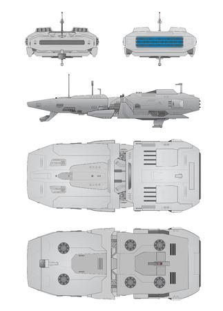 interceptor: Spaceship positions