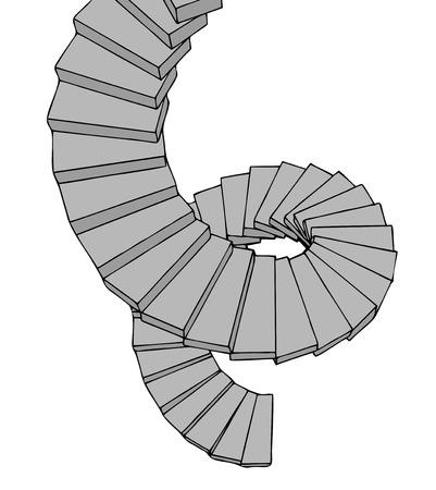 rungs: Snail stair
