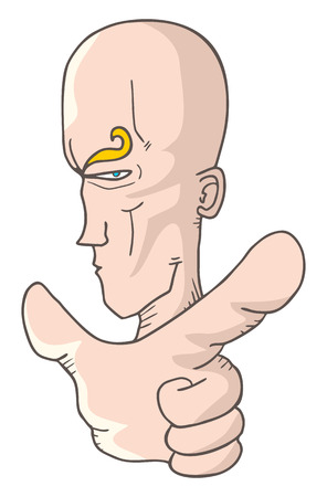 open shirt: Finger cartoon