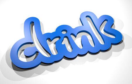 ingest: Drink sticker Stock Photo