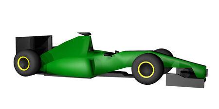 numero: Green racing car