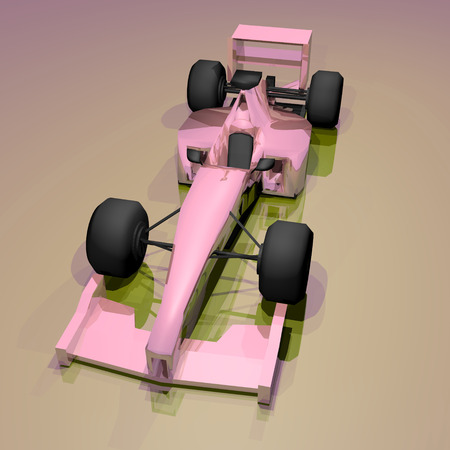 numero: Pink racing car