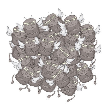 musca domestica: Many fly vector draw
