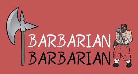 barbarian: barbarian symbol Illustration
