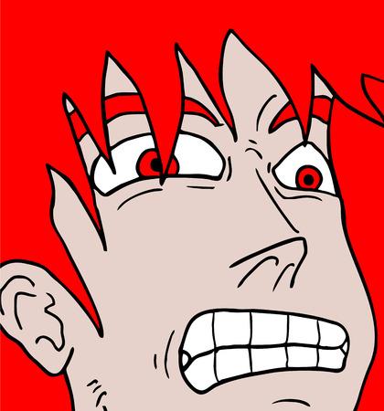 stubble: Surprised face Illustration