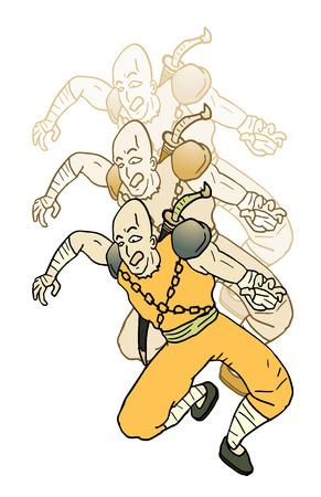 crouching: oriental warrior