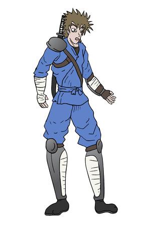 avenger: surprised samurai Illustration