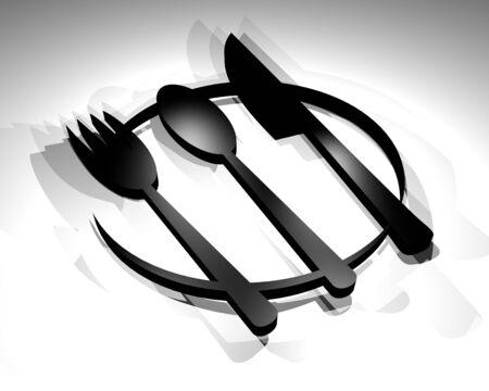 gastronomic: restaurant render symbol
