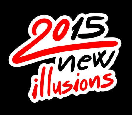 illusions: 2015 illusions on black  Illustration