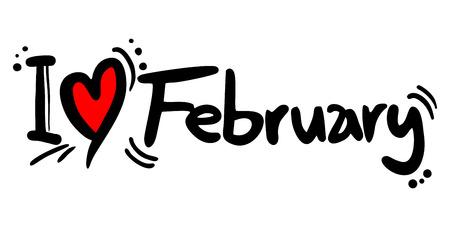 covet: February love Illustration