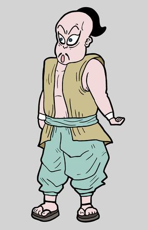 Funny warrior Illustration