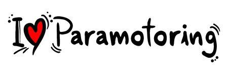 craving: Paramotoring love Illustration