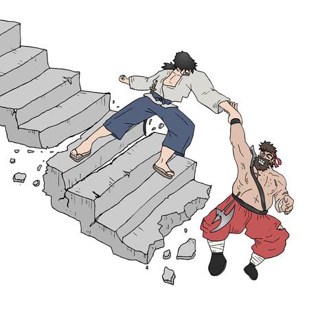 stockade: Help warrior stair