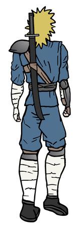vengador: Caminar hacia atr�s ninjas