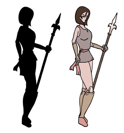 warrior woman: Warrior woman shadow