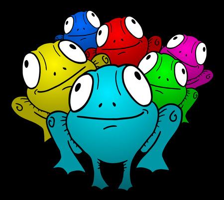 Color frog Illustration