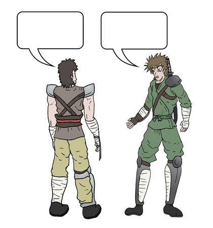 apparently: Talking comic warrior