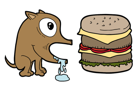 hallucinate: Dog and burger