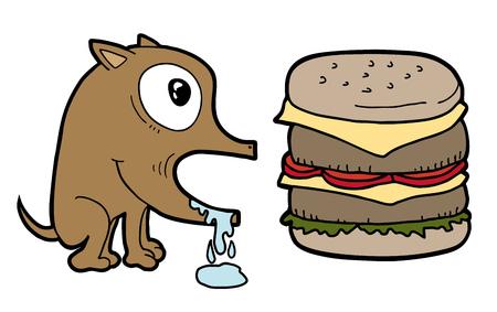 Dog and burger