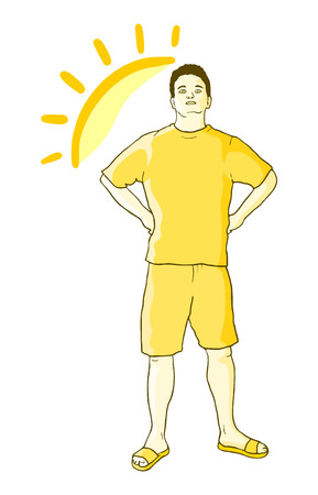 sympathetic: Sun boy Illustration