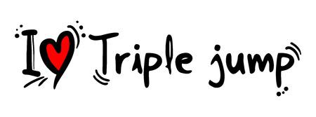 triple: Triple jump love Illustration