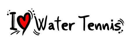 craving: Tenis del amor del Agua Vectores