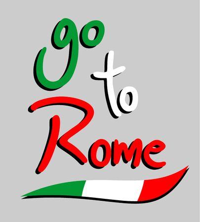 roman empire: Go to Rome Illustration