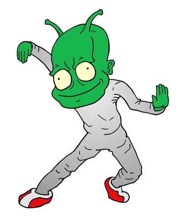 nice butt: Dance alien Illustration