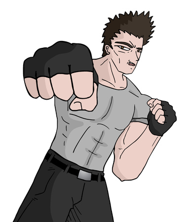 martial art: Martial art man Illustration