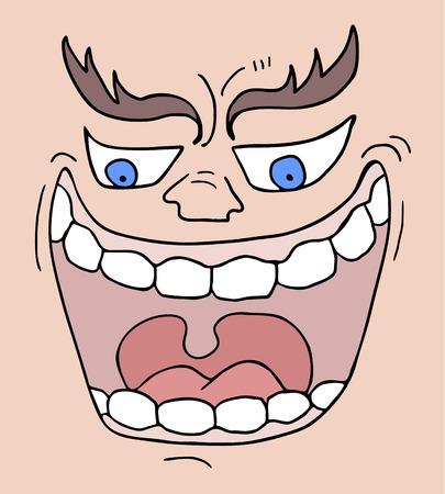 to tease: Crazy face Illustration
