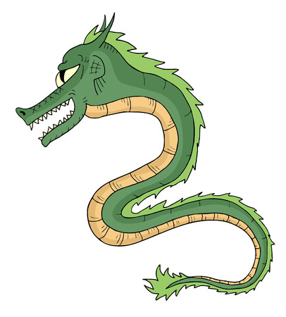 green dragon: Green dragon Illustration