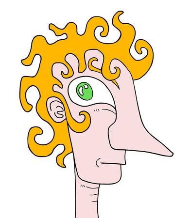 vertex: Blonde man Illustration