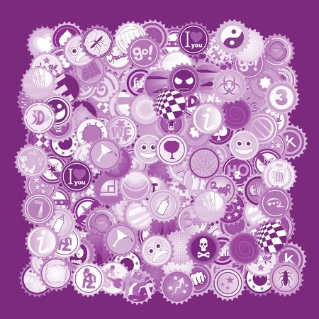 Purple caps color Illustration