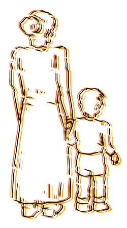 dysfunctional: Art family draw Illustration