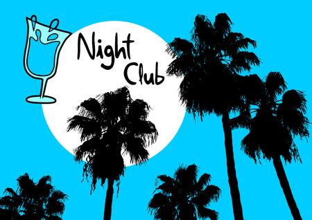 night club: Night club palm