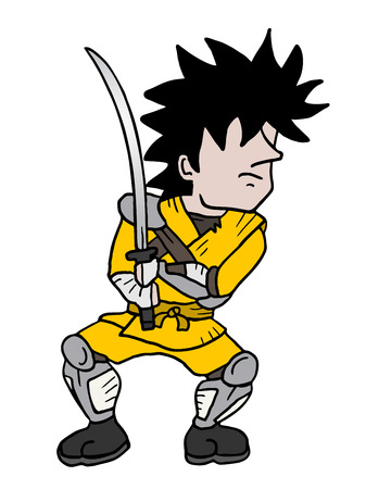 crouching: Samurai draw