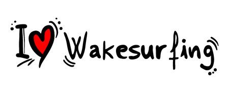 covet: Wakesurfing love Illustration