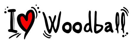 heading the ball: Woodball love Illustration